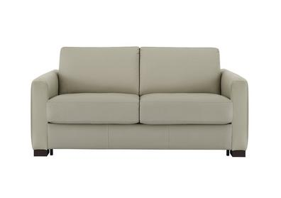 Alcova 2 Seater Leather Sofa Bed With Box Arms
