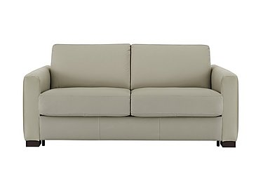 Alcova 2.5 Seater Leather Sofa Bed with Box Arms in 857 Tortora on Furniture Village