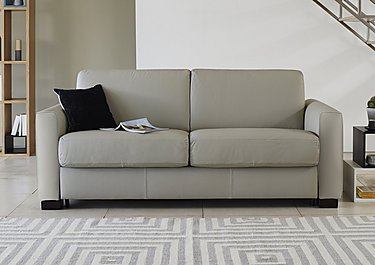 Alcova 3 Seater Leather Sofa Bed with Box Arms in  on Furniture Village