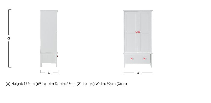 Blossom Double Wardrobe in  on Furniture Village