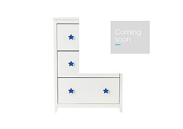 Supernova Shoe Cabinet in Blue on Furniture Village