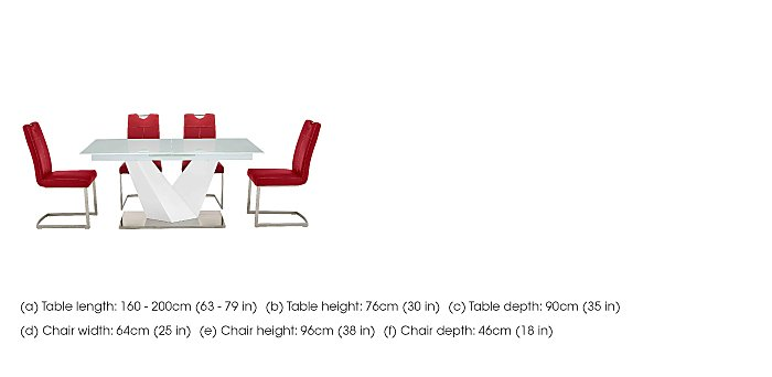 Panama White Dining Table and 4 Chairs in  on Furniture Village