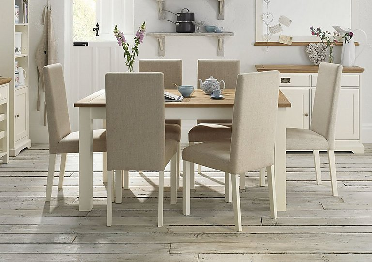 Compton Extending Table And 4 Upholstered Chairs