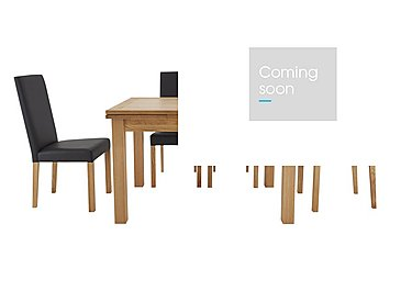 Compton Extending Table and 4 Upholstered Chairs in Oak Table / Brown Pu Chairs on Furniture Village