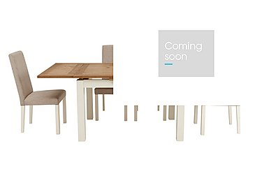 Compton Extending Table and 4 Upholstered Chairs in Two Tone Tbl / Sand Fabric Chr on Furniture Village