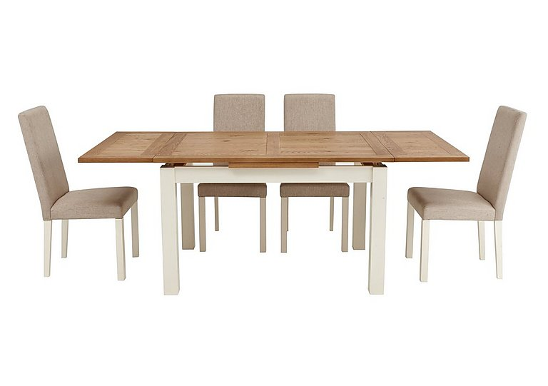 Wonderful Compton Extending Table And 4 Upholstered Chairs