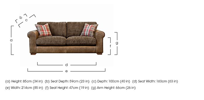 Highland 3 Seater Leather Sofa in  on Furniture Village