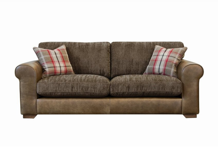 Highland 4 Seater Leather Sofa - Furniture Village