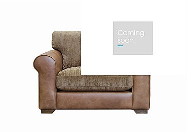 Highland Leather Snuggler Armchair in Byron Buckle Archie Mink Wo on Furniture Village