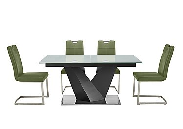 Green Dining table and chairs sets Furniture Village
