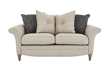 Diversity 2 Seater Fabric Pillow Back Sofa in Civic Stone Granite Lo on Furniture Village