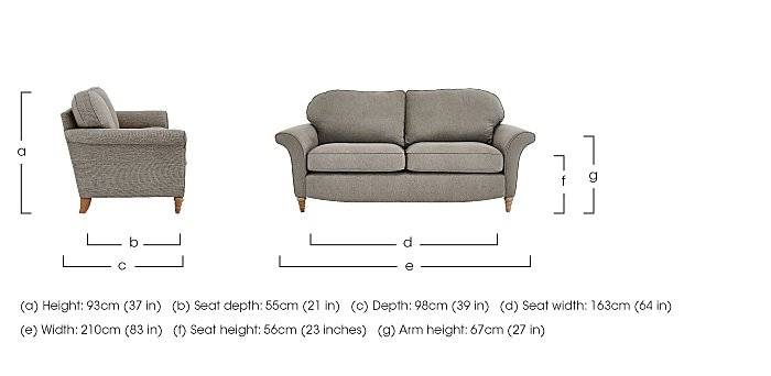 Diversity 3 Seater Fabric Sofa in  on Furniture Village