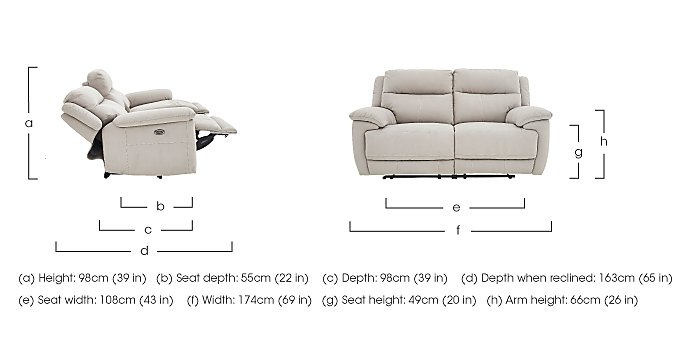 Touch 2 Seater Fabric Recliner Sofa in  on Furniture Village