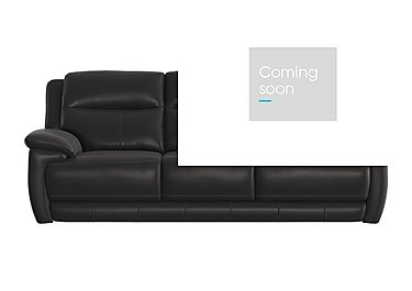 Touch 3 Seater Leather Recliner Sofa in Bv-3500 Classic Black on Furniture Village