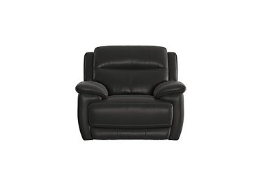 Touch Leather Recliner Armchair in Bv-3500 Classic Black on Furniture Village