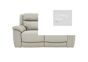 Bounce 2 Seater Leather Recliner Sofa in Bv-946b Silver Grey on Furniture Village