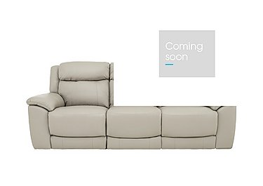 Bounce 3 Seater Leather Recliner Sofa in Bv-946b Silver Grey on Furniture Village