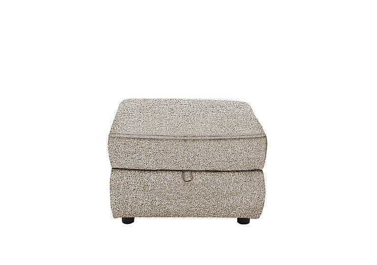 Bounce Fabric Storage Footstool in Fab-Chl-R25 Chilli Biscuit on Furniture Village