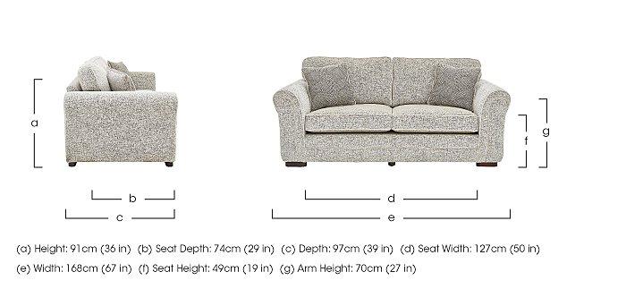 Devlin 2 Seater Fabric Sofa in  on Furniture Village