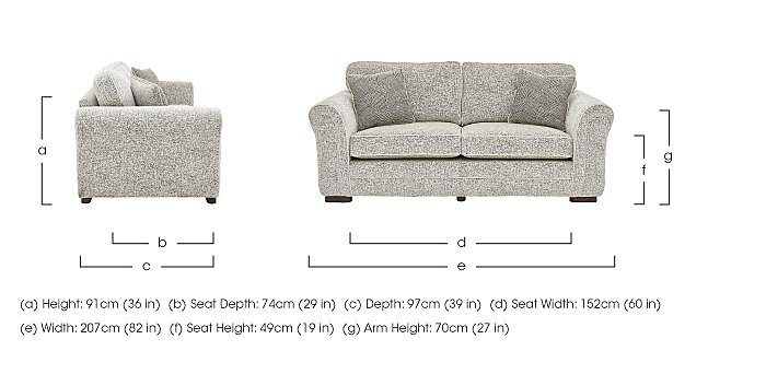 Devlin 3 Seater Fabric Sofa in  on Furniture Village