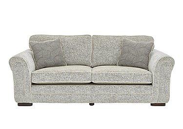 Devlin 4 Seater Fabric Sofa in Buzz Plain Marble Dk on Furniture Village