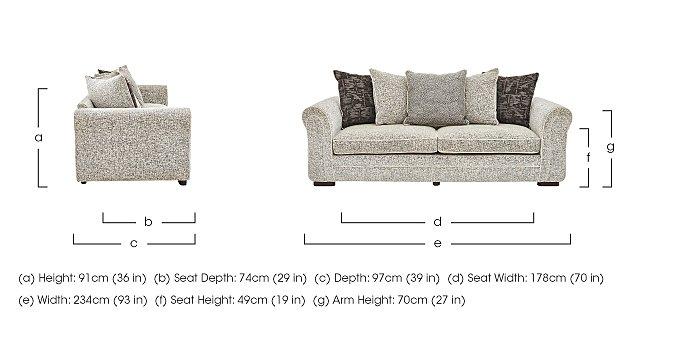 Devlin 4 Seater Fabric Sofa in  on Furniture Village