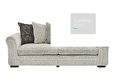 Devlin 4 Seater Fabric Sofa in Buzz Plain Marble Dk on Furniture Village