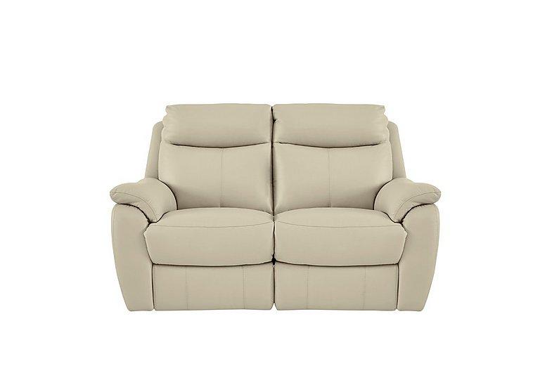 Snug 2 Seater Leather Recliner Sofa in Bv-862c Bisque on Furniture Village