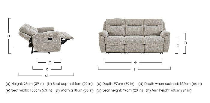 Snug 3 Seater Fabric Recliner Sofa in  on Furniture Village