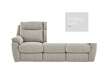 Snug 3 Seater Fabric Recliner Sofa in Fab-Chl-R25 Chilli Biscuit on Furniture Village