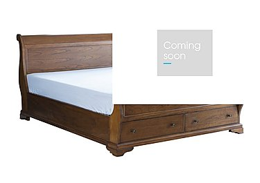 Louis Philippe End Storage Bed Frame in  on Furniture Village