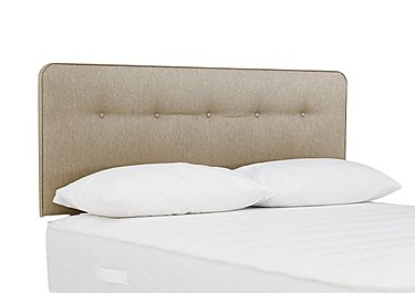 Indulge Buttons Headboard in 7240 Taupe on Furniture Village