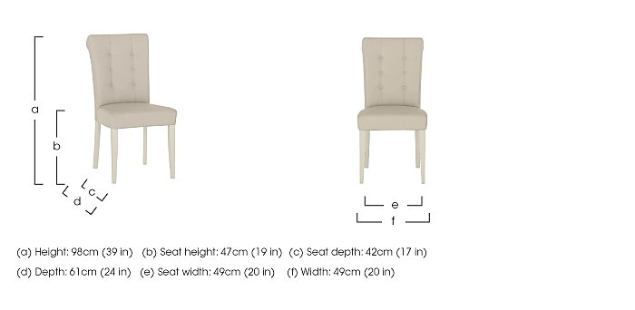 Pierre Pair of Upholstered Dining Chairs in  on Furniture Village