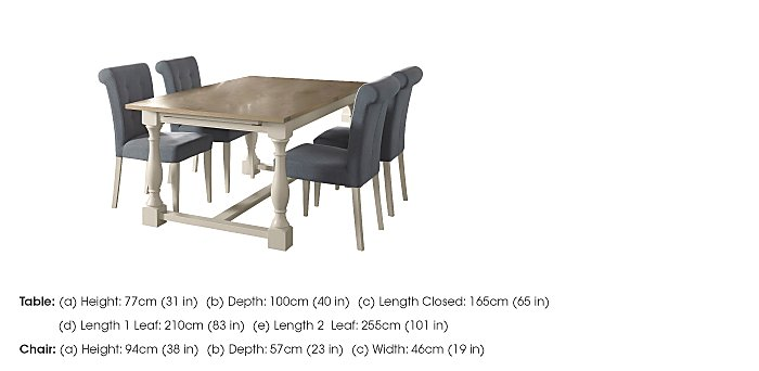 Pierre Extending Dining Table and 4 Upholstered Dining Chairs in  on Furniture Village