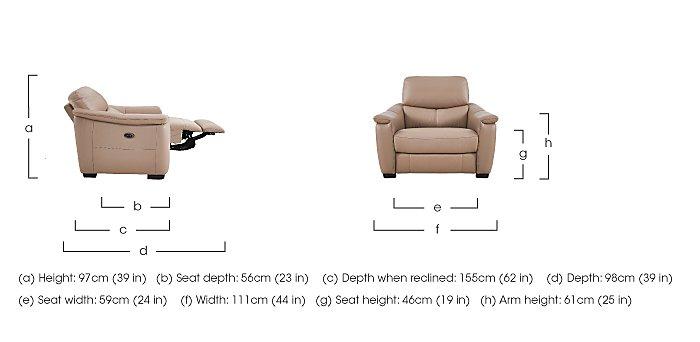 Flex Leather Recliner Armchair in  on Furniture Village