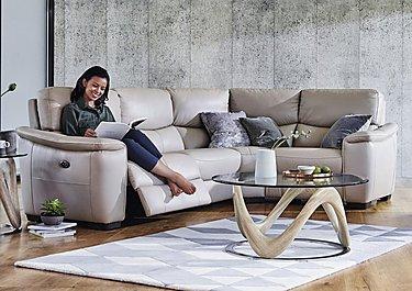 Flex Leather Recliner Corner Sofa in  on Furniture Village