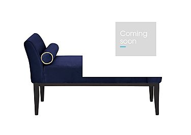 Ariel Bench with Bolsters in Velvet Navy Rope Piping Wg on Furniture Village