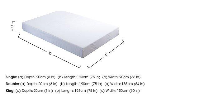 Verve Roll Up Foam Mattress in  on Furniture Village