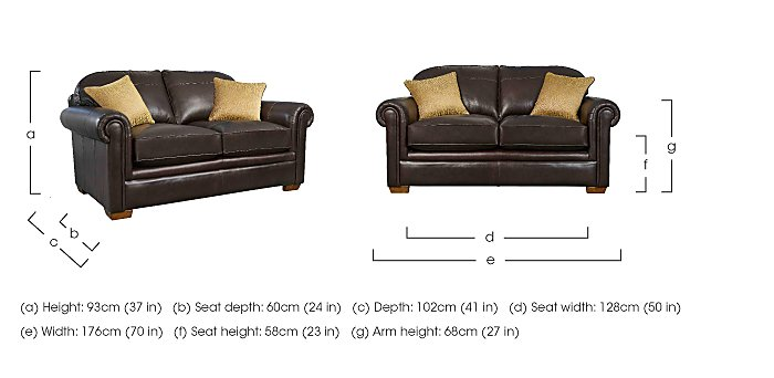 The Derwent Collection Eastmoor 2 Seater Leather Sofa in  on Furniture Village