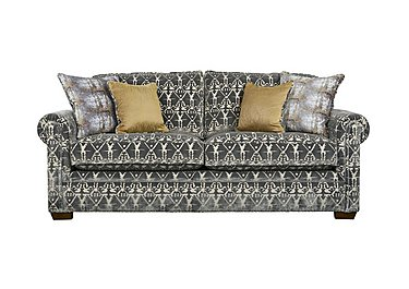 The Derwent Collection Eastmoor 3 Seater Fabric Sofa in 2378-95 Ikat Silver on Furniture Village