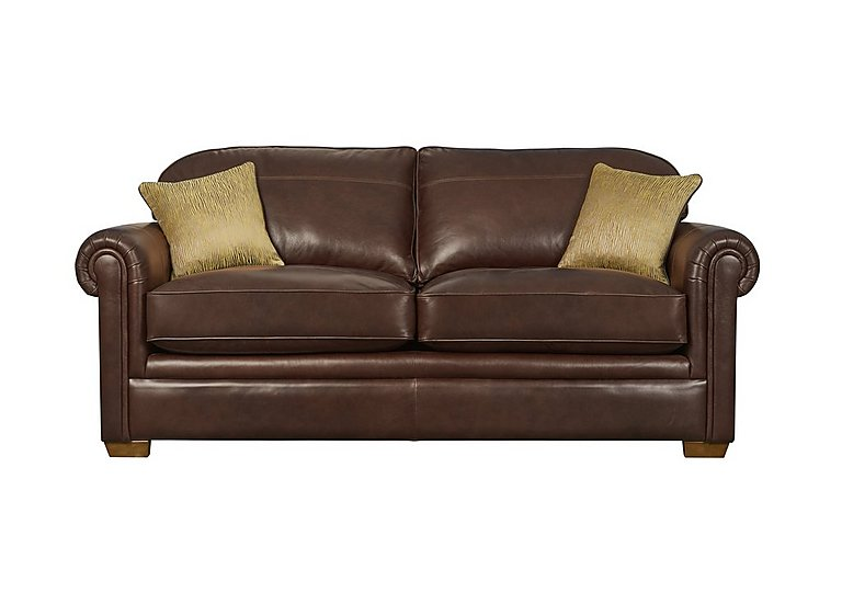 The Derwent Collection Eastmoor 3 Seater Leather Sofa in 1035-31 Dallas Tan on Furniture Village
