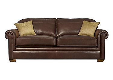 The Derwent Collection Eastmoor 4 Seater Leather Sofa in 1035-31 Dallas Tan on Furniture Village