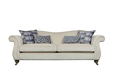 The Derwent Collection Cavendish 4 Seater Fabric Sofa in 1341-51 Vista Oyster on Furniture Village