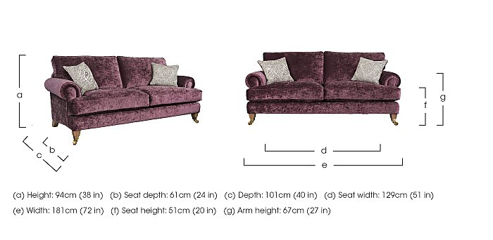The Derwent Collection Bradwell 2 Seater Fabric Sofa in  on Furniture Village