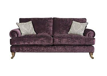 The Derwent Collection Bradwell 3 Seater Fabric Sofa in 1113-71 Mancini Aubergine on Furniture Village