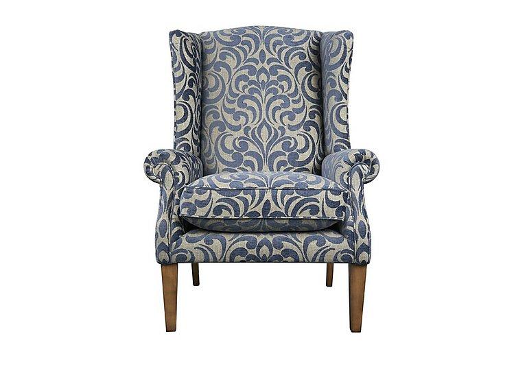 The Derwent Collection Hathersage Fabric Armchair in 2380-81 Swirl Medallion Indigo on Furniture Village