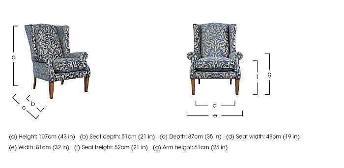 The Derwent Collection Hathersage Fabric Armchair in  on Furniture Village