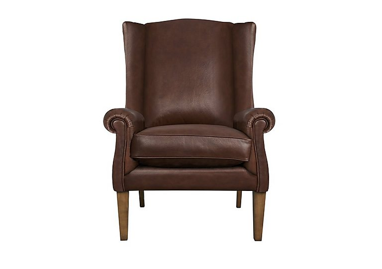 The Derwent Collection Hathersage Leather Armchair in 1035-31 Dallas Tan on Furniture Village