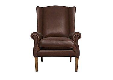 The Derwent Collection Hathersage Leather Armchair in 1035-31 Dallas Tan on Furniture Village