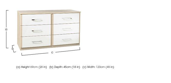 Kingsley 6 Drawer Chest in  on Furniture Village